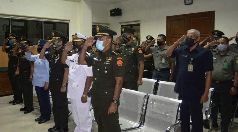 Pengadilan Militer I-04 Palembang Mengikuti Upacara HUT Mahkamah Agung RI ke-75 Secara Virtual